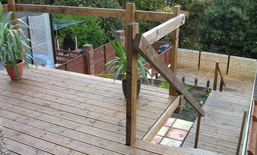 Garden Decking in Ebbw Vale