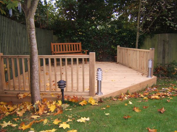 Wales builder garden decking for cardiff ebbw vale np cf for Garden decking quotes uk